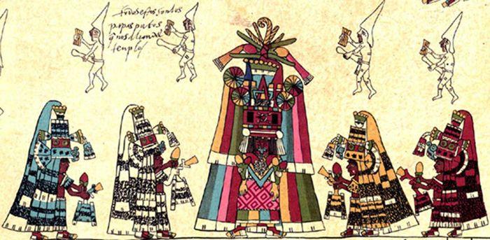 Detalle de la página 30 del Códice Borbónico