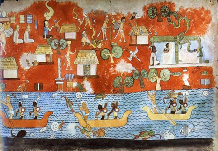 Mural del Templo de los Guerreros de Chichén Itzá