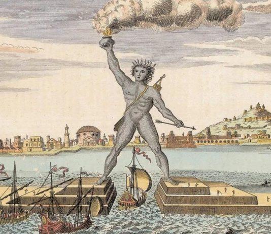 Diseño artístico del Coloso de Rodas procedente del Libro de la Sabiduría de 1911