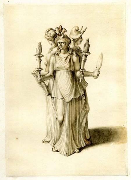 Estatuilla de Hécate de principios del siglo XIX, diosa con quien se sincretizó Ereshkigal