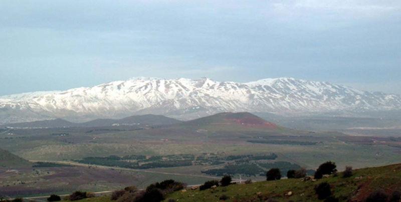 El monte Hermón cubierto de nieve
