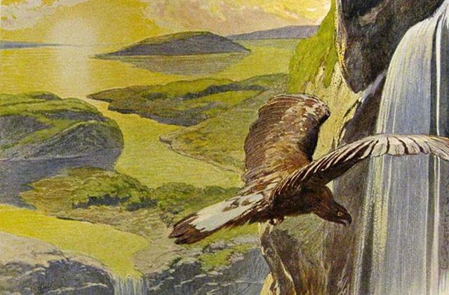 El nuevo mundo que renace tras el Ragnarök, según aparece descrito en el Völuspá (ilustración de Emil Doepler)