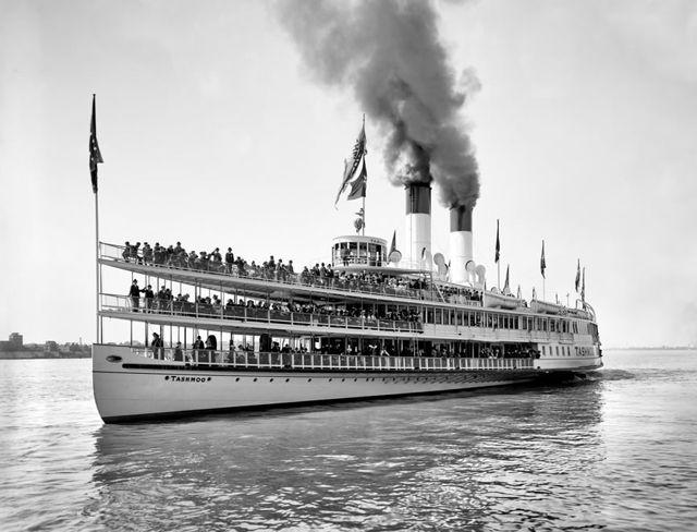 Así luce un barco de vapor. En la imagen el primer barco de vapor español