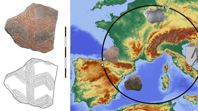 Fragmento de cerámica muestra que antiguos humanos en Europa estaban más conectados de lo que se pensaba