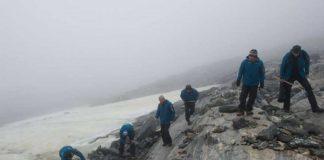 Los arqueólogos glaciales estudian las áreas montañosas de Oppland, Noruega