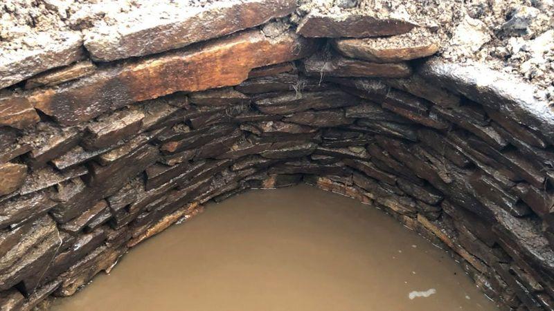 La cámara de la edad del hierro se ve como un subterráneo
