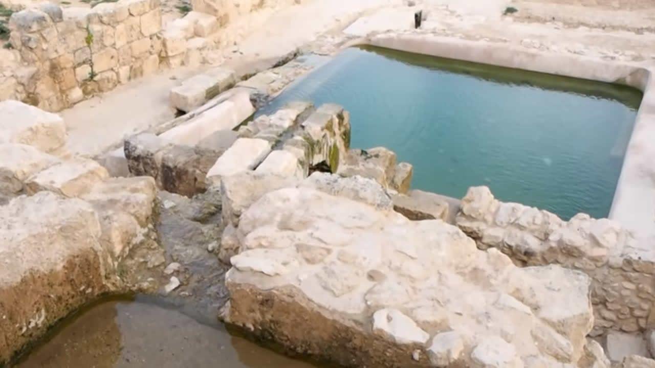 Antiguo sitio bíblico cerca a Jerusalén revela piscina bizantina y rara moneda griega