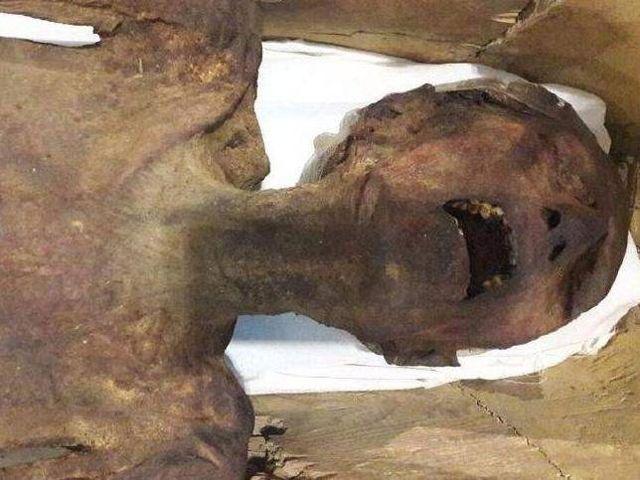 La momia gritando se exhibió en el Museo Egipcio del Ministerio de Antigüedades de Egipto