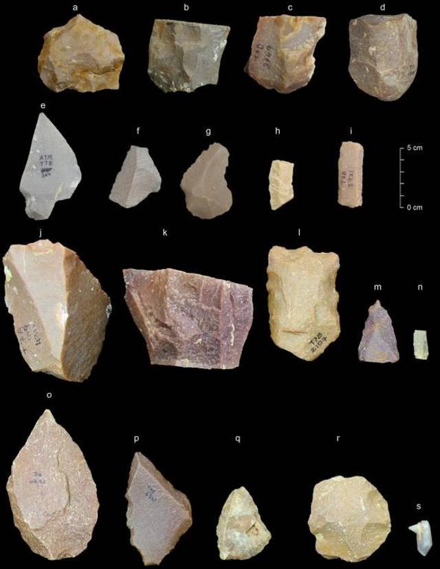Herramientas del Paleolítico Medio recuperadas de Attirampakkam.