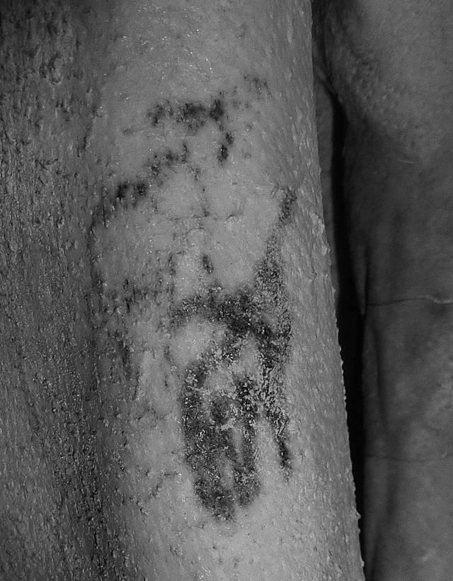 Los tatuajes de animales del hombre Gebelien fueron revelados usando imágenes infrarrojas