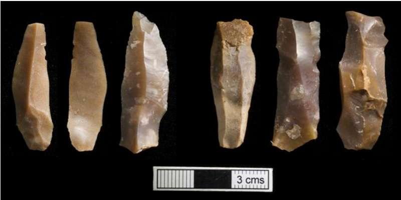 Se pensaba que los delicados pedernales habían sido influenciados por los europeos