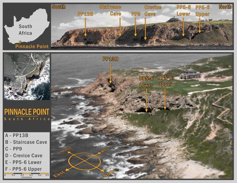 El sitio de Pinnacle Point en Sudáfrica