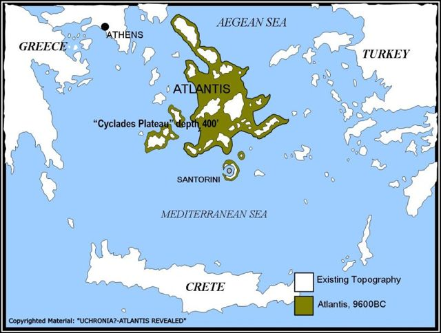 Mapa de la región de La Atlántida