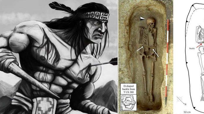 Hallan esqueleto de guerrero con prótesis de cuchillo en vez de mano