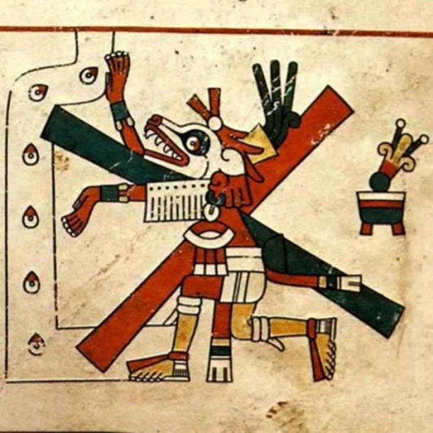 Xolotl, como se publicó originalmente en el Codex Fejervary-Mayer, siglo XV, autor desconocido