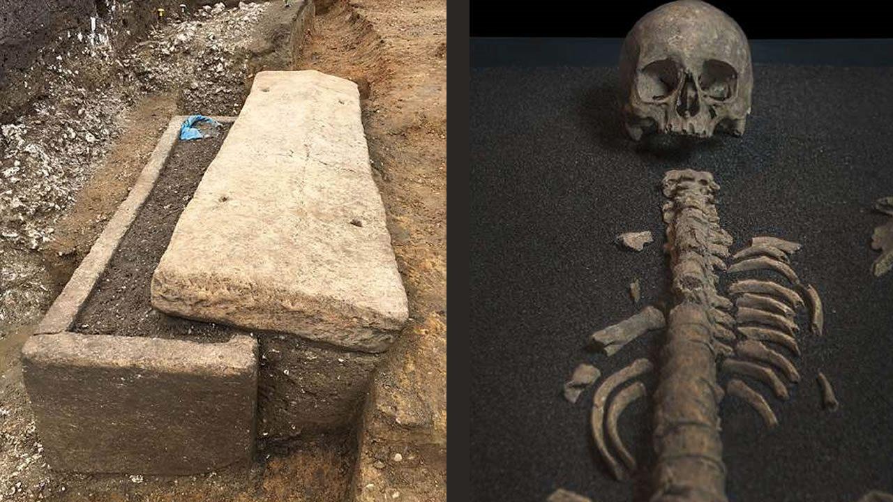 Exponen tumba romana de 1.600 años, contiene restos de una mujer y sus tesoros