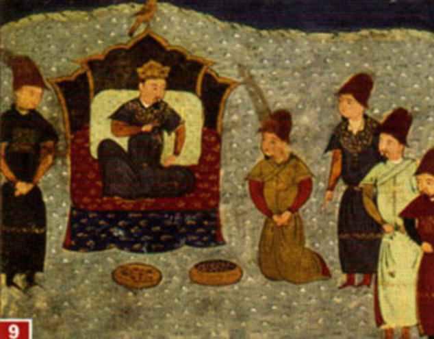 El VHB en las antiguas estepas puede haber sido tan común como lo es hoy. En la foto: Batu Khan, hijo de Genghis, en el trono