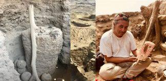 Hallan una momia bien conservada de 1.000 años de antigüedad en Perú, envuelta en algodón
