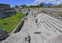 Hallan una callejón de balcones en Pompeya, de hace 2.000 años