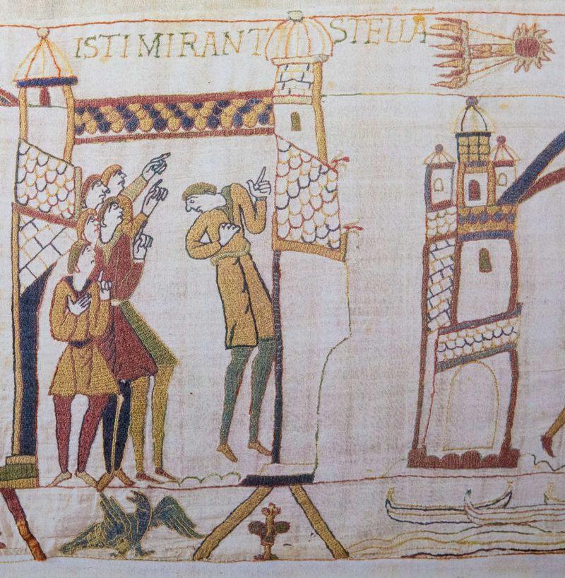 El tapiz de Bayeux del siglo XI incluye una representación del cometa de Halley