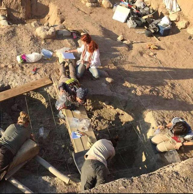 Un grupo de arqueólogos excavan el sitio Başur Höyük