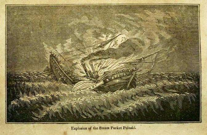 Ilustración del libro de 1848 «The tragedy of the seas; or, Sorrow on the ocean, lake, and river, from shipwreck, plague, fire and famine»