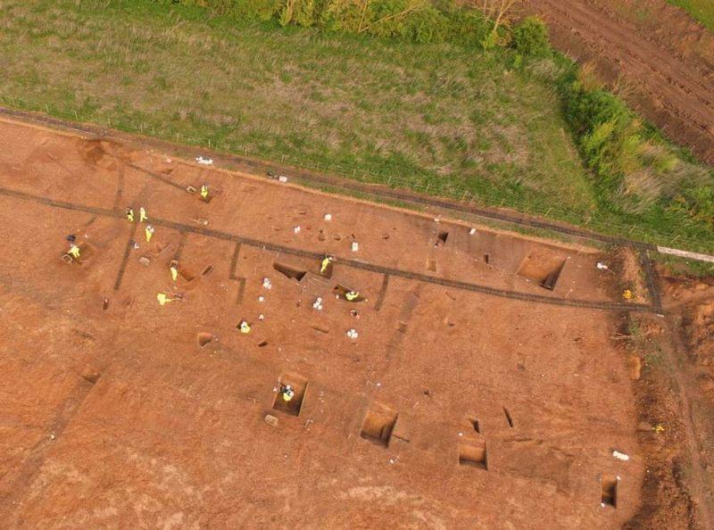 Una vista aérea de parte del sitio. Infraestructura de Highways England.