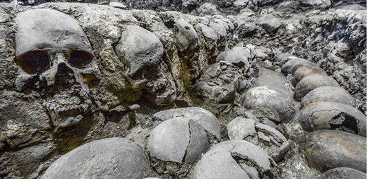Torre de cráneos azteca es aún más grande y «espeluznante» de lo que se pensaba