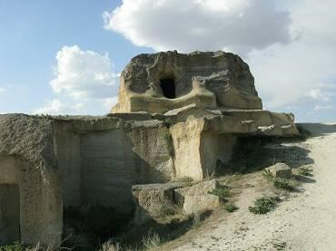 Aldea Cavusin en la región de Capadocia, en Turquía