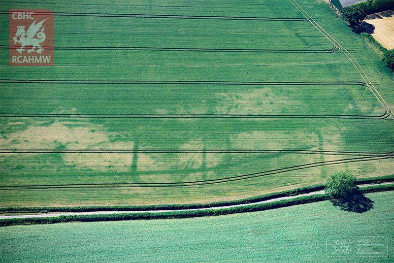Fortlet recién descubierto cerca de Magor, Gales del Sur.
