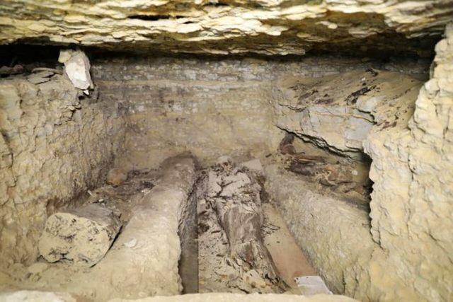 Una de las cámaras funerarias