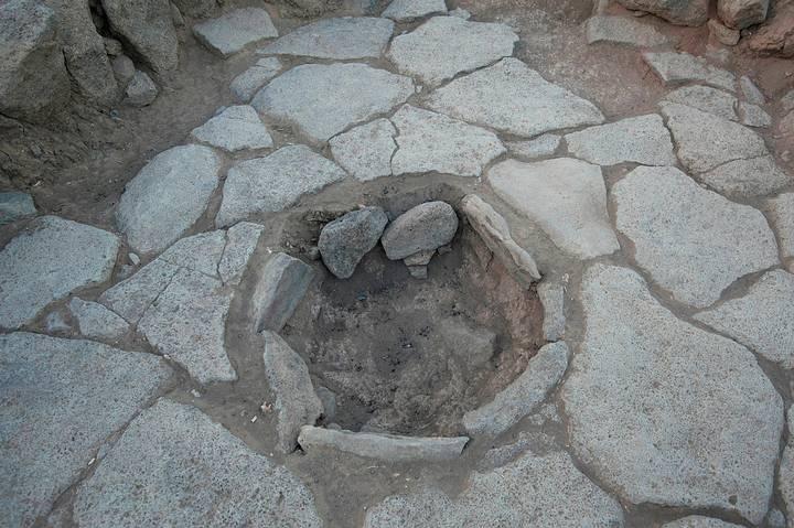Antiguo horno donde fue encontrado el pan carbonizado.