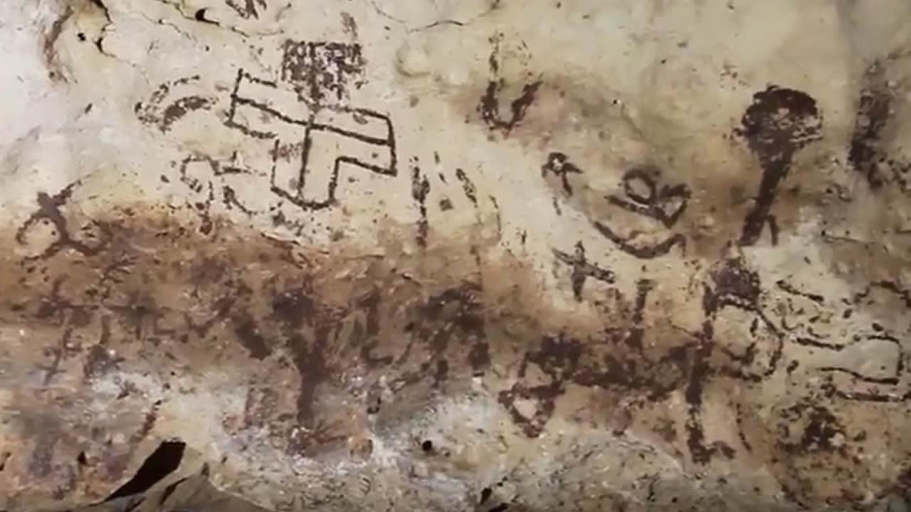 Hallan la cueva con arte rupestre más importante en Yucatán