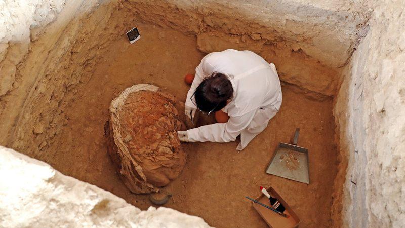 Trabajos en el Complejo Arqueológico de Túcume, Lambayeque, Perú, 4 de julio de 2018