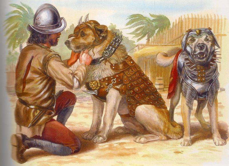 Perros durante la conquista de América