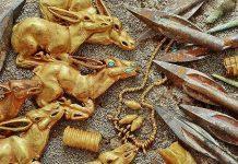 Hallan 3.000 joyas de oro de hace 2.800 años y pertenecientes a una familia real