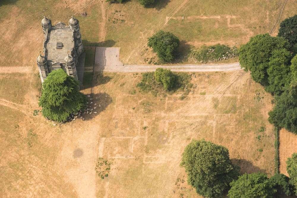 Gatehouse de Tixall Hall y los cimientos de edificios pasados