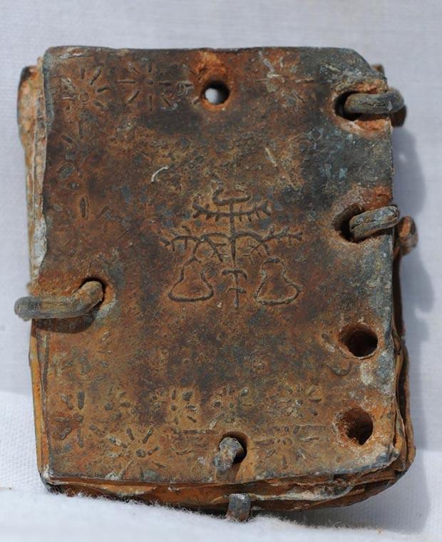 Símbolos en uno de los códices de plomo