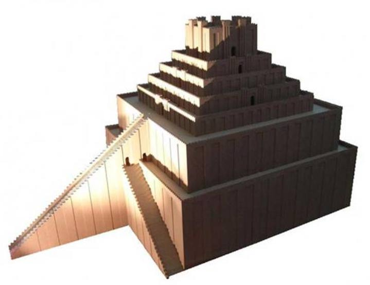 Ruinas del zigurat y el Templo Blanco de Uruk.