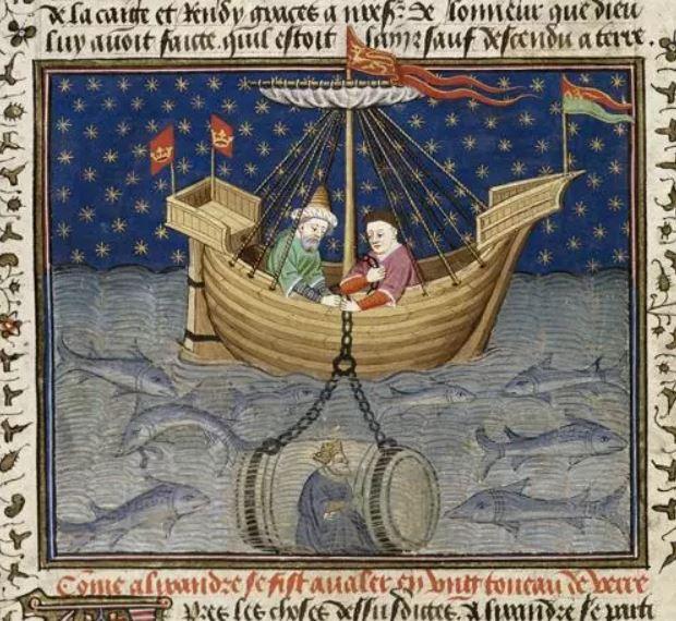 Alexander en su «submarino»