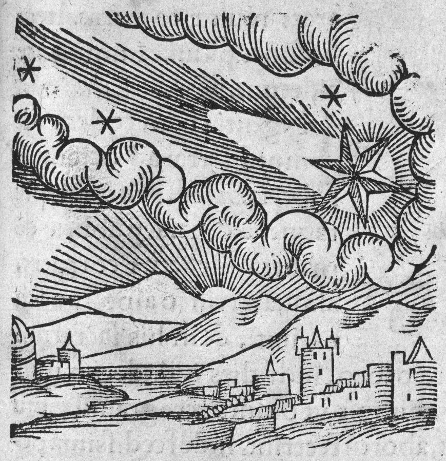 Cometa en el cielo en 1340.
