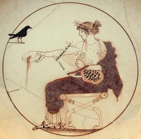Apolo toca la lira
