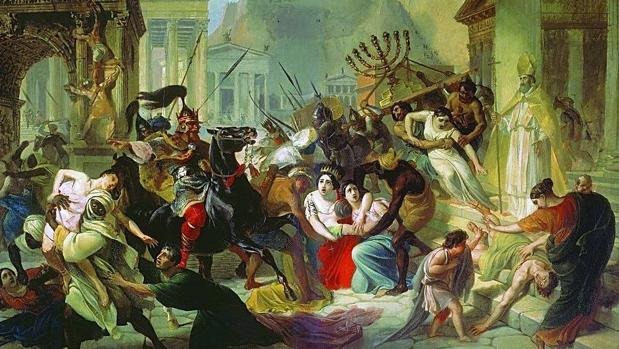 Caía del imperio romano a manos de los «Bárbaros».