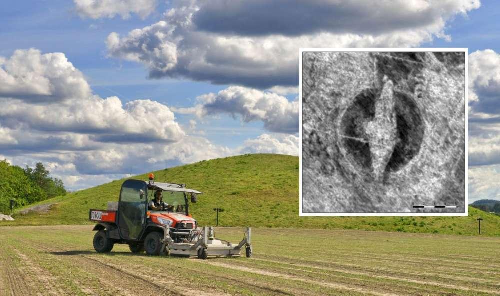 El escáner de radar motorizado de NIKU atraviesa el túmulo funerario