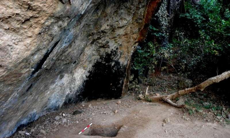 El sitio de excavación en la isla de Alor
