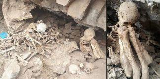 Saquean cementerio prehispánico de 5.000 años en Perú y dejan los restos humanos tirados en una pila