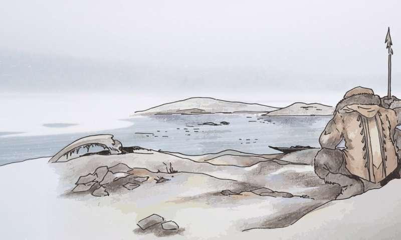 Impresión artística de un antiguo pescador de Bolshoy Oleni Ostrov