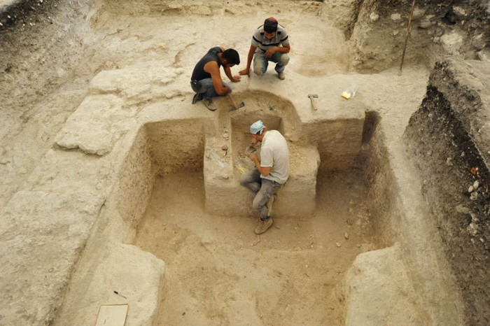 Excavaciones del baño de vapor