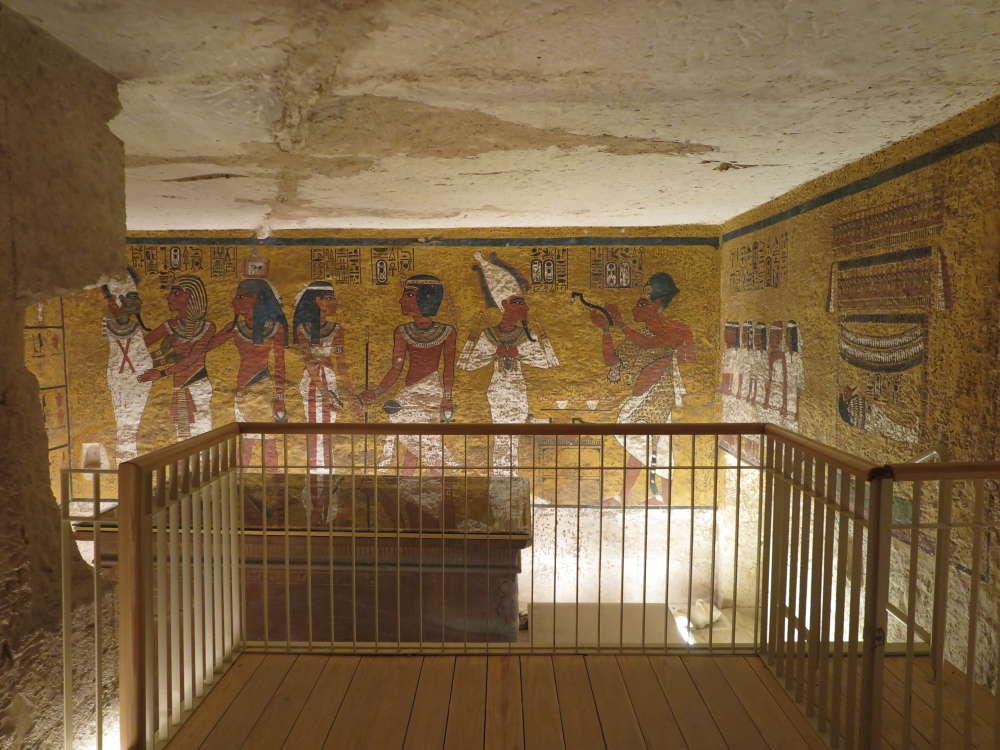 Nueva plataforma de visualización de visitantes en la Tumba de Tutankamon