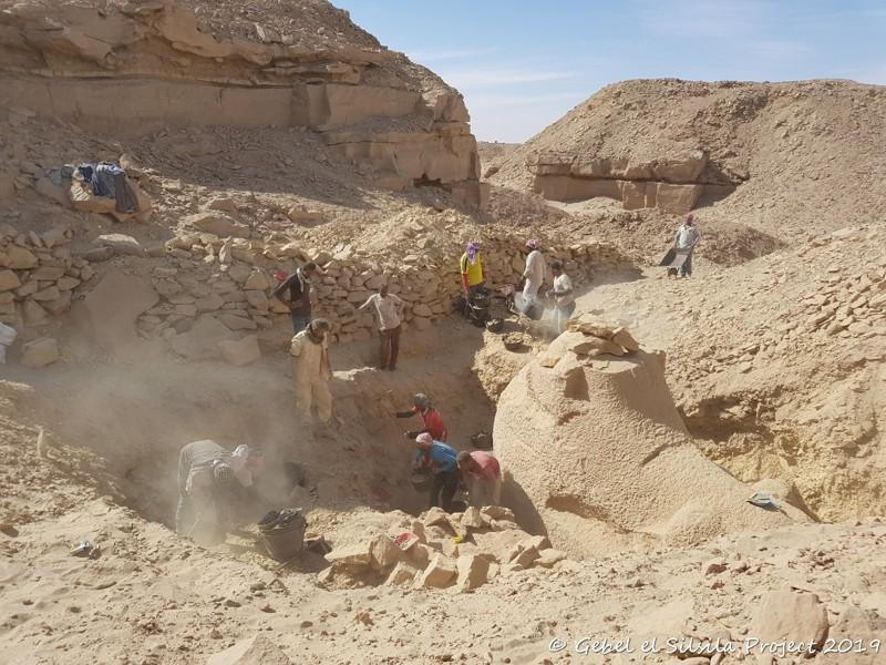 Vista durante las excavaciones